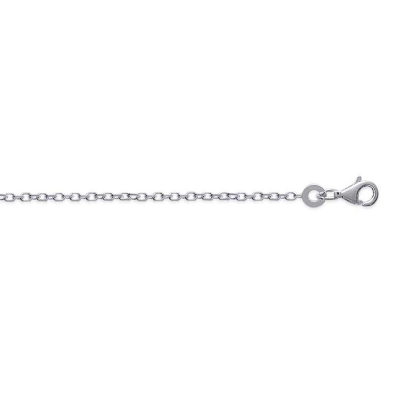 Kette de cou 38cm Forcat 925 Sterling Silber rhodiniert - Männer/Damen