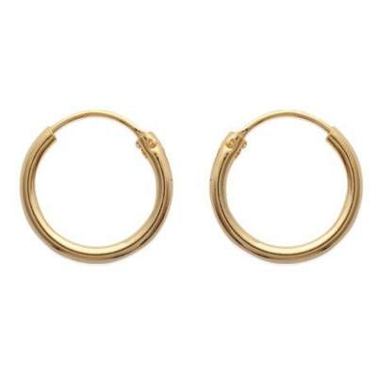 Petites Hoop Earrings Gold plated 18k 16mm - Fermoir intégré