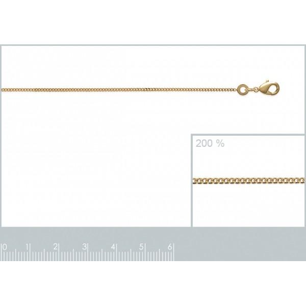 Bracelet chaîne Gourmette Plaqué Or - Homme/Femme - 18cm