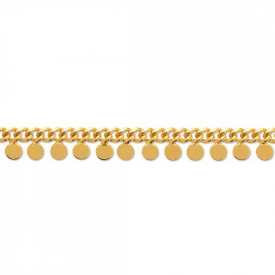 Cadena de tobillo bohémienne Chapado en Oro 18K - Mujer -...