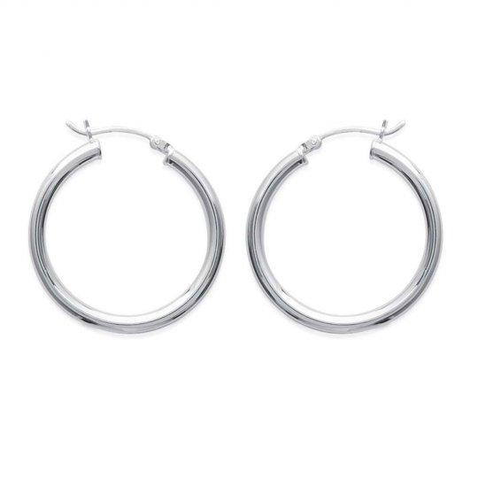 Hoop Earrings Argent 30mm - Women