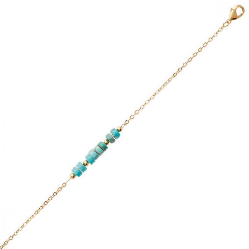 Bracelet Gold plated 18k - Jaspe - 16cm - 18cm