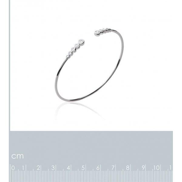 Bracciale Bangle ligne de pierres Argento Sterling 925 Rodiato - Zirconia Cubica - 56mm