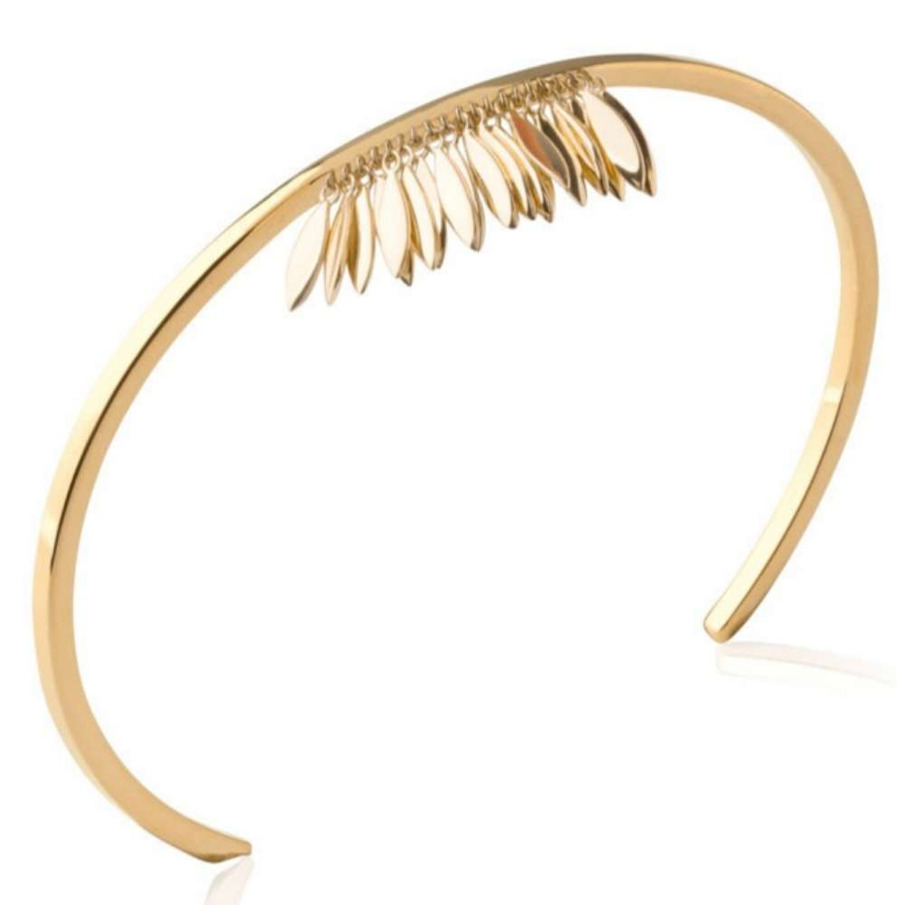 Bracciale Bangle breloques Piumas aztèque Placcato in oro 18k - Donna - 56mm