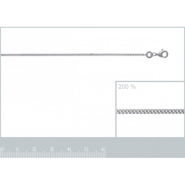 Bracelet chaîne Gourmette Argent Massif - Femme - 18cm