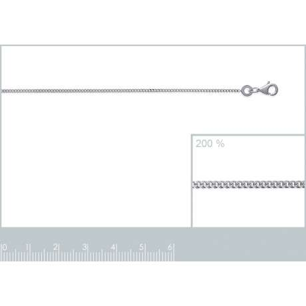 Catena de cou Gourmette Argento Sterling 925 - Donna - 38cm