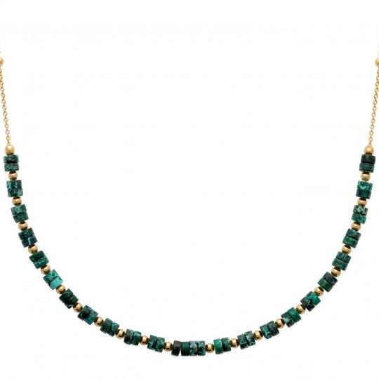Necklace Gold plated 18k - Jaspe - Women - 45cm