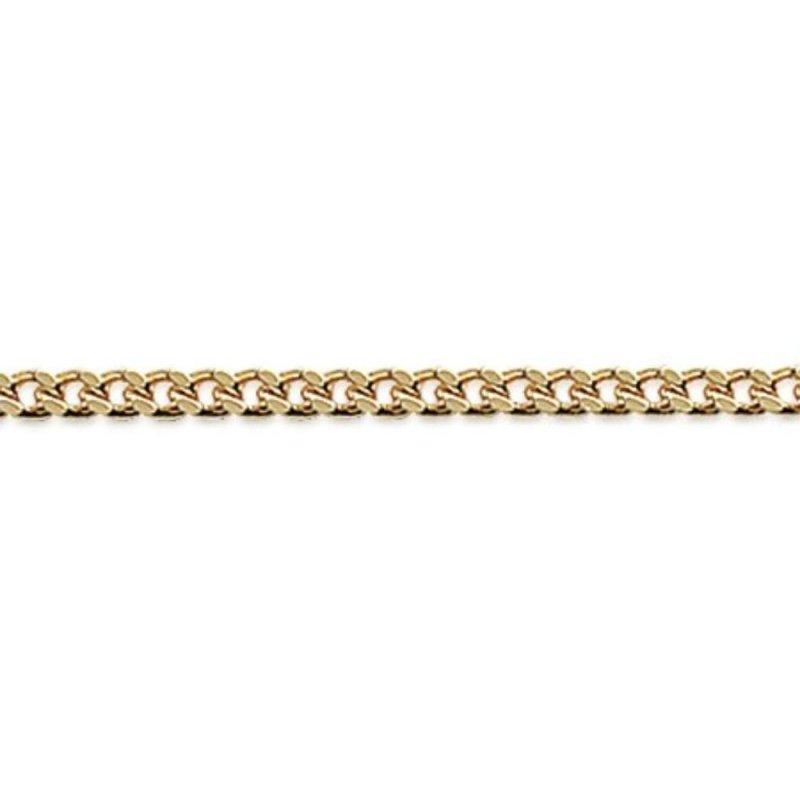 Cadena de cou Gourmette Chapado en Oro 18K - Hombre/Mujer - 45cm