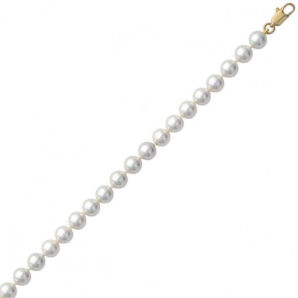 Bracelet de perles d'imitation D.7mm Plaqué Or - Femme - 19cm