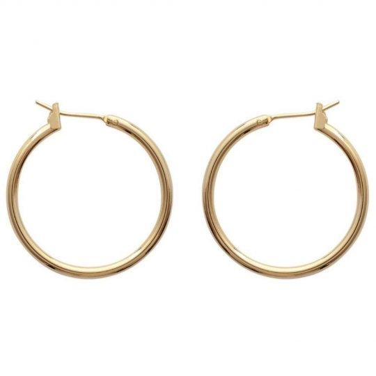 Hoop Earrings Gold plated 18k 25mm - Fils épais