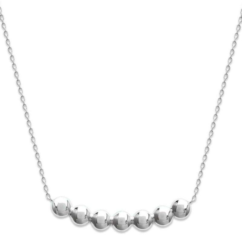 Halskette bulles Punto 925 Sterling Silber rhodiniert - Damen - 45cm