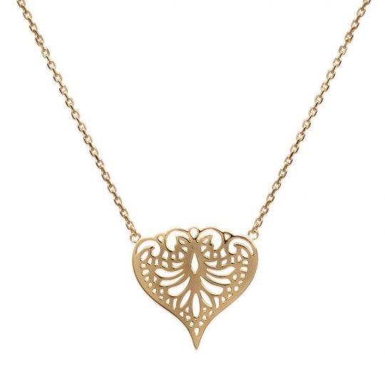 Collier Coeur arabesque Plaqué Or - Femme - 45cm