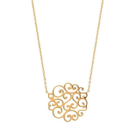 Halskette Rond Spitze Herzen Vergoldet 18k - Damen - 45cm