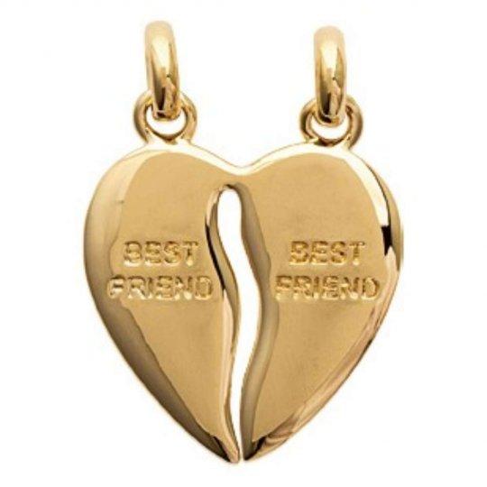 Pendants Heart  Sécable Meilleures Amies Gold plated 18k