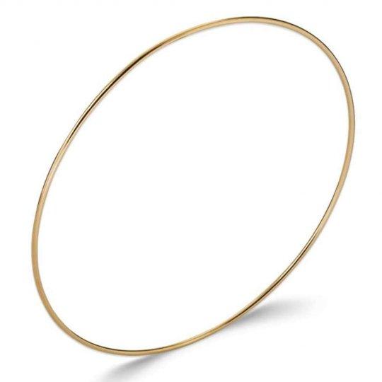 Bracciale Bangle simple fin Placcato in oro 18k - Donna - 62mm