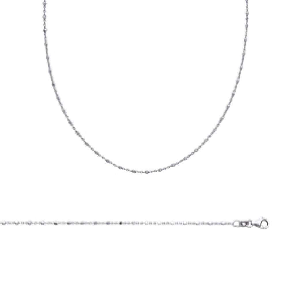 Chain de cou Rhodium plated Sterling Silver - - 45cm