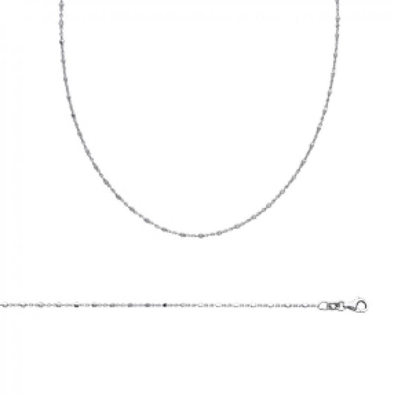 Chain de cou Rhodium plated Sterling Silver - - 45cm