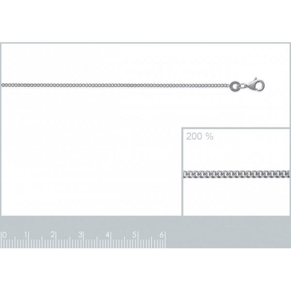 Catena de cou Gourmette Argento Sterling 925 - Uomo/Donna - 38cm