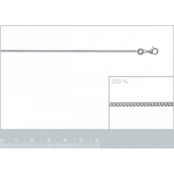 Catena de cou Gourmette Argento Sterling 925 - Uomo/Donna - 42cm