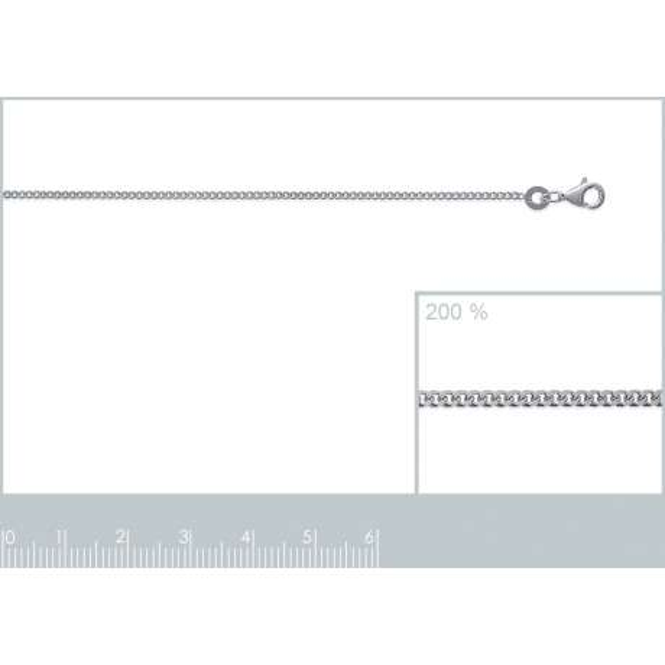Catena de cou Gourmette Argento Sterling 925 - Uomo/Donna - 45cm