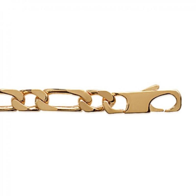 Bracelet Chain Figaro Gold plated 18k - for Men - 21cm