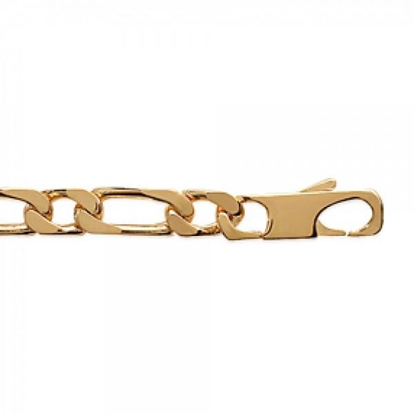 Bracciale Catena Figaro Placcato in oro 18k - Uomo - 21cm
