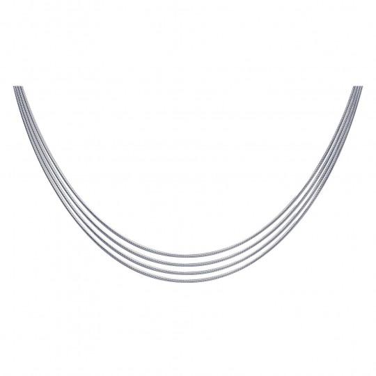 Necklace Multi-rangs Sterling Silver - Women - 42cm