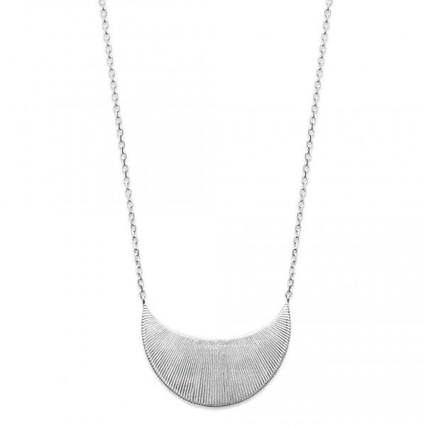 Collana Luna crescente avec reflets Argento Sterling 925 Rodiato - 45cm