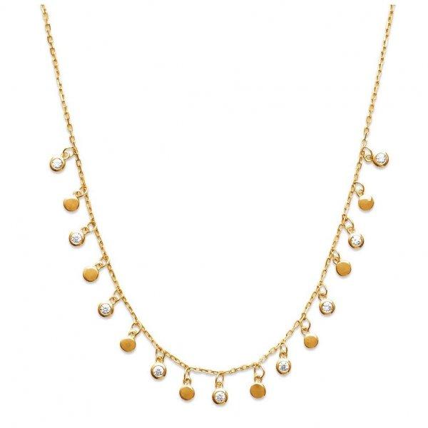 Collana bohème breloques Placcato in oro 18k - Zirconium - 45cm