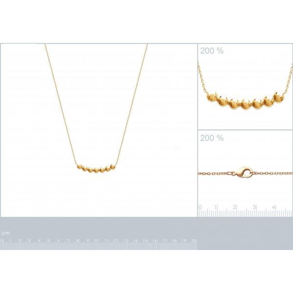 Collana bulles Punto Placcato in oro 18k - Donna - 45cm