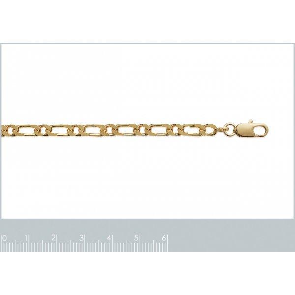 Bracciale Catena Figaro Placcato in oro 18k - Uomo/Donna - 21cm