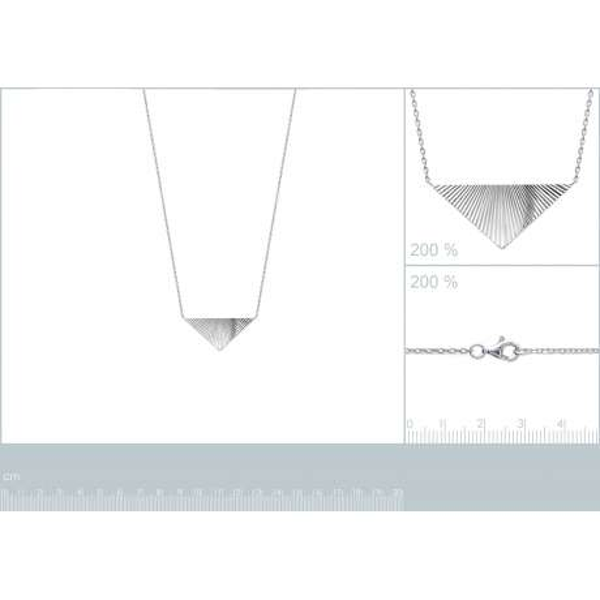 Collana Triangolo à reflets Brillancy Argent Rhodié - Donna - 45cm