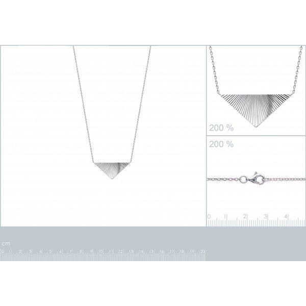 Collier Triangle à reflets Brillancy Argent Rhodié - Femme - 45cm