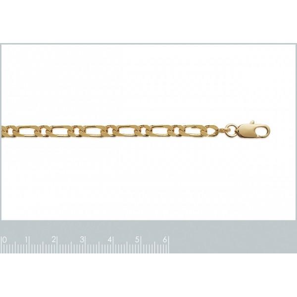 Catena Figaro Placcato in oro 18k - Uomo/Donna - 55cm