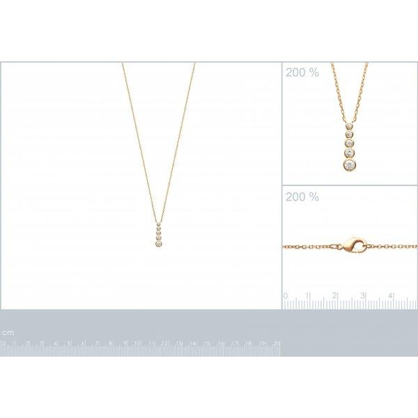 Collana ligne de pierres Placcato in oro 18k - Zirconia Cubica - 45cm