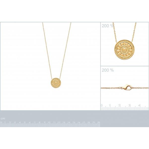 Collier Bali médaillon Plaqué Or - Femme - 45cm