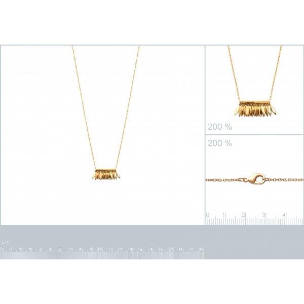 Collana breloques Piumas Placcato in oro 18k - Donna - 45cm