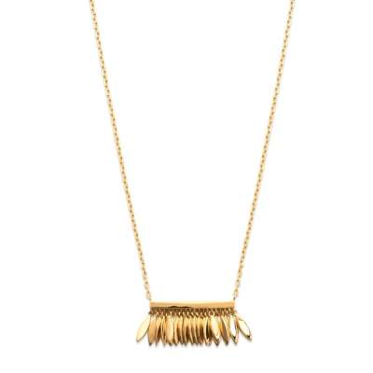 Collier breloques plumes Plaqué Or - Femme - 45cm