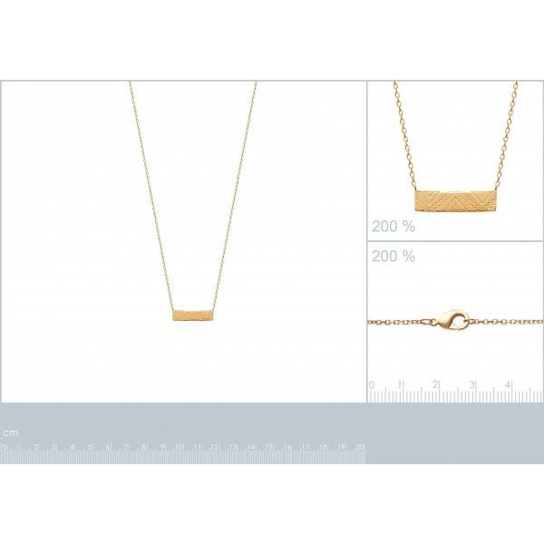 Collana Aztèque Maya Placcato in oro 18k - Donna - 45cm