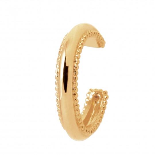 Bague d'oreille perlée Plaqué or - Femme - D.12mm