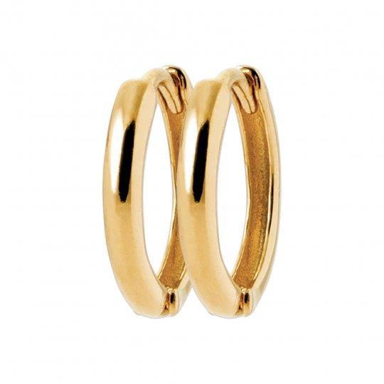 Cerchio Orecchini Placcato in oro 18k - Donna - 14mm