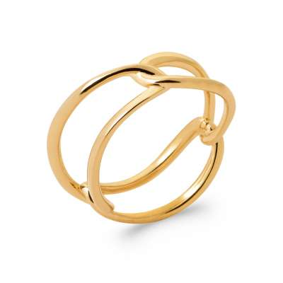 Anello enlacée Placcato in oro 18k - Donna