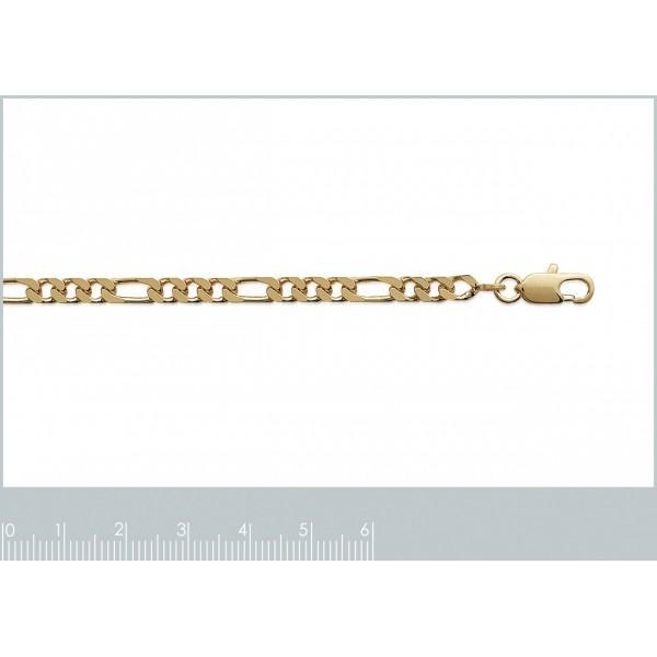 Catena Figaro Placcato in oro 18k - Uomo/Donna - 60cm
