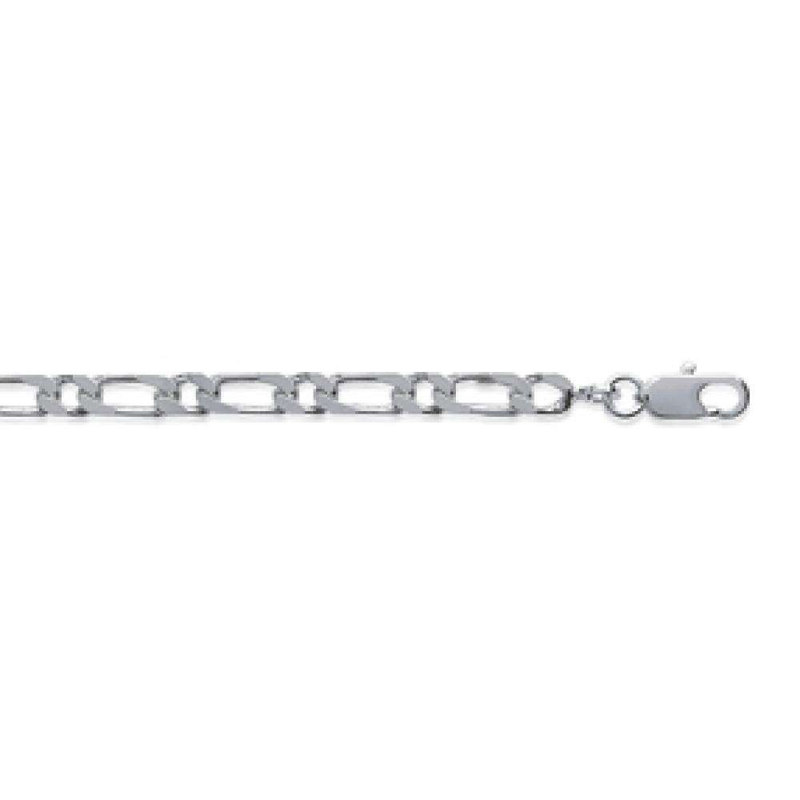 Kette Figaro 925 Sterling Silber - Männer/Damen - 70cm