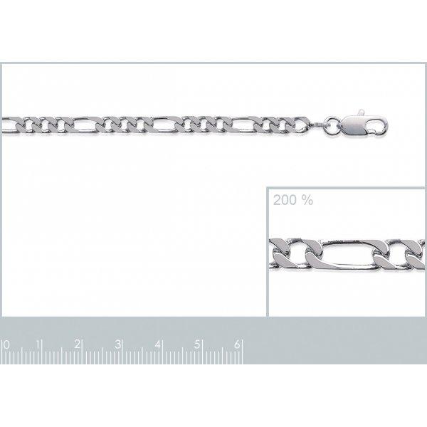 Catena Figaro Argento Sterling 925 - Uomo/Donna - 70cm