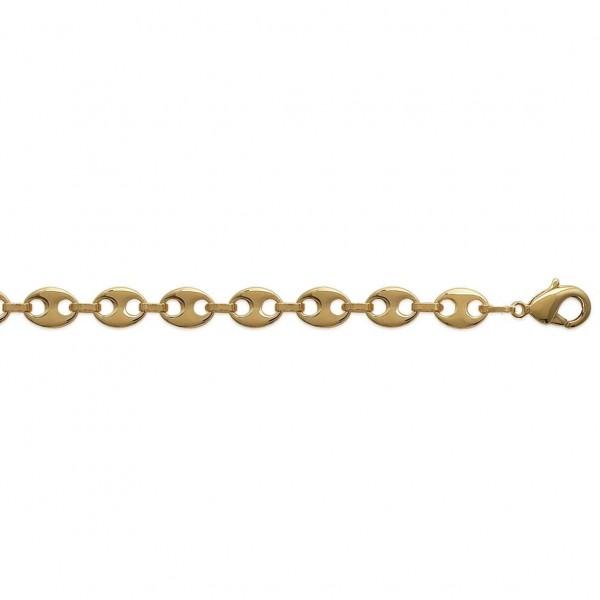 Bracelet chaîne Grain De Café 6mm Plaqué Or - Mixte - 21cm