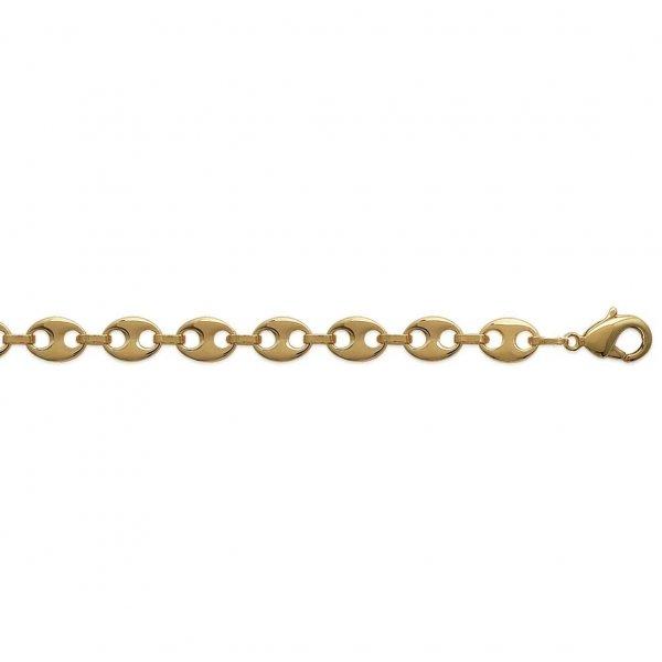 Bracciale Catena Grain De Café 6mm Placcato in oro 18k - Mixte - 19cm