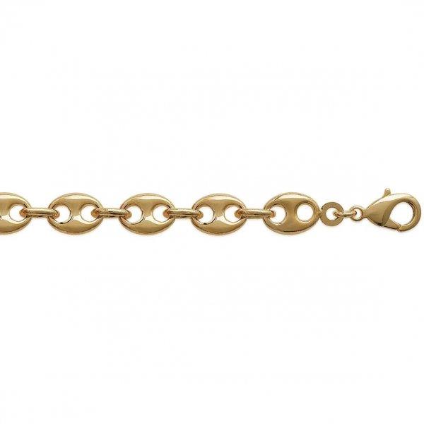 Bracelet chaîne Grain De Café 9mm Plaqué Or - Mixte - 19cm