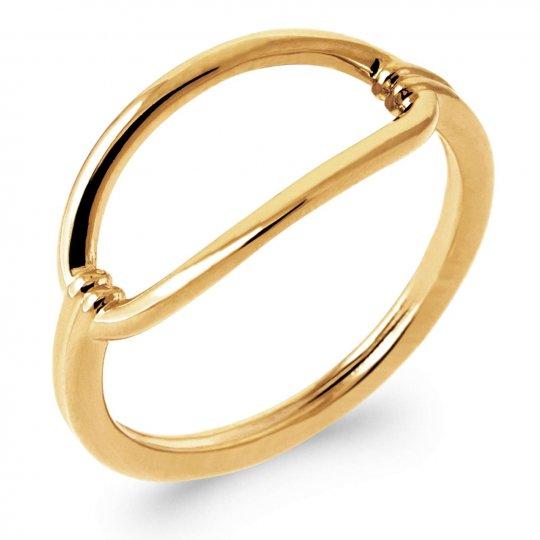 Anello Anneau ovale Placcato in oro 18k - Donna