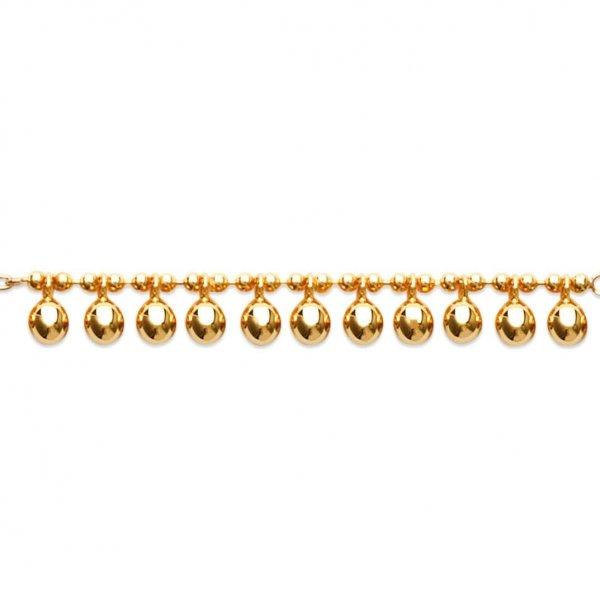 Bracelet breloques boules Plaqué Or - Femme - 18cm
